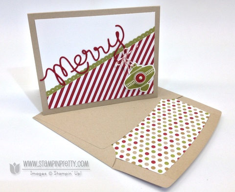 Stampin up stampinup pretty order stamp it online holiday catalog card ideas envelope liner die christmas ornament punch