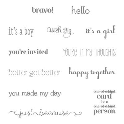 Dozen thoughts stampin up stampinup card ideas