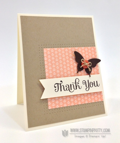 Stampin up stampinup pretty it order four you thank you card ideas paper clean and simple