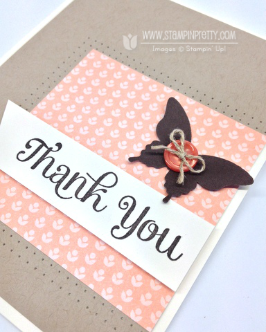 Stampin up stampinup pretty it mary fish thank you card idea four elegant butterfly punch