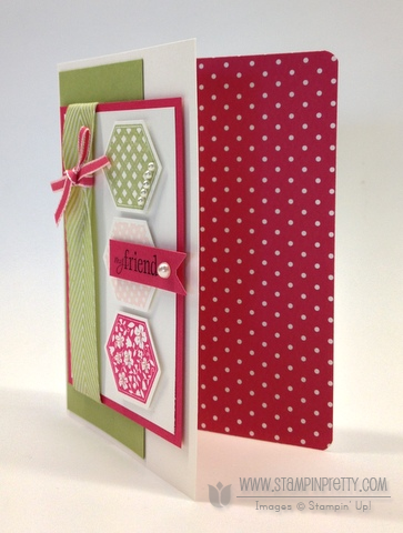Stampin up stampinup pretty it orders online hexagon punch six sided sampler card ideas demonstrator blog