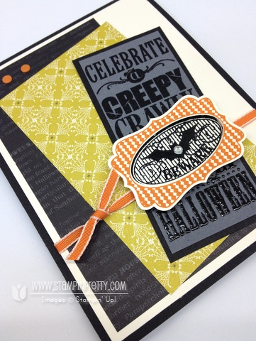 Stampin up stampinup pretty order halloween bash card idea envelope liner holiday catalog punch