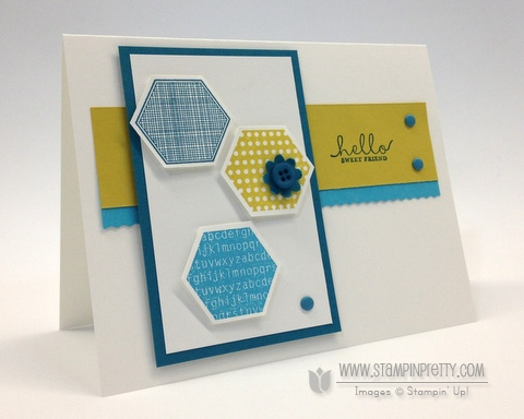 Stampin up stampinup order pretty mary fish card ideas rotary trimmer six sided sampler hexagon punch