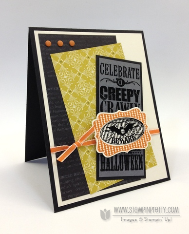Stampin up stampinup pretty order halloween bash card ideas envelope liner holiday catalogs punch