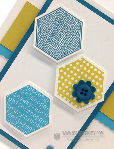 Stampin up stampinup order pretty mary fish card idea rotary trimmers six sided samplers hexagon punch