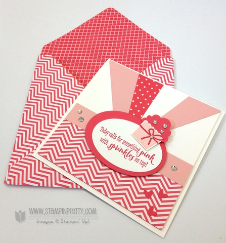 Stampin up stampinup mary fish pretty stamp it cupcake builder punch birthday card idea girl remembering your