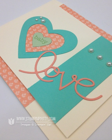 Stampin up stampinup baby card idea stamp it mary fish pretty expressions thinlits framelits diebig shot