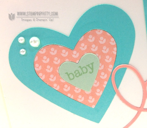 Stampin up stampinup baby card idea stamp it mary fish pretty expression thinlits framelits die big shot