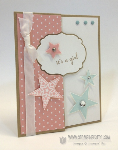 Stampin up stampinup stamp it pretty order thinlits labels card die baby card twins ideas