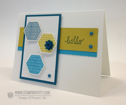 Stampin up stampinup order pretty mary fish card idea rotary trimmer six sided samplers hexagon punch
