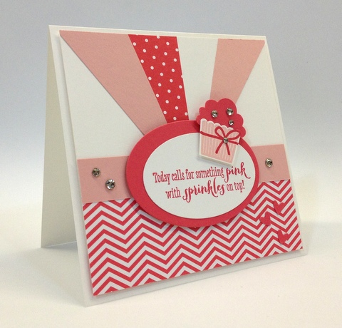 Stampin up stampinup mary fish pretty stamp it cupcake builder punch birthday card idea girl remembering your create