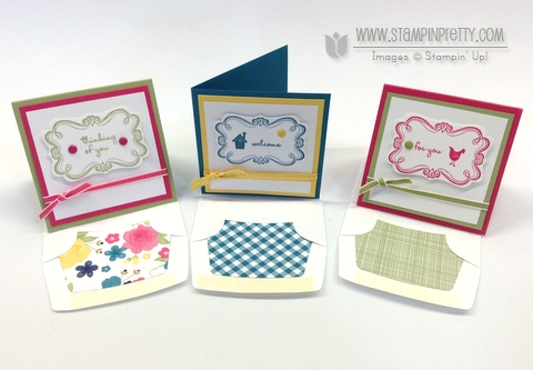 Stampin up stampinup stamps it pretty mary fish sweetly framed envelope liner framelits die 3 x 3