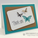 """Thank You"" Card with the Butterfly Bundle!"