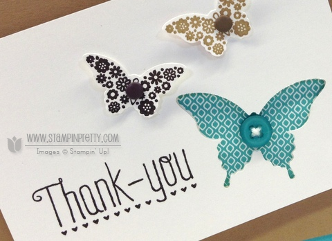 Stampin up stampinup order stamp it pretty mary fish papillon potpourri bitty elegant butterfly punch another thank you cards