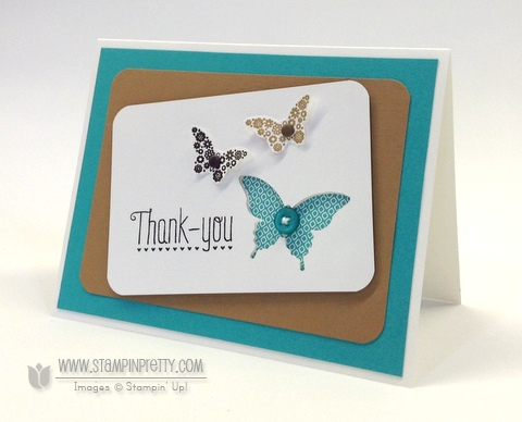 Stampin up stampinup order stamps it pretty mary fish papillon potpourri bitty elegant butterfly punch another thank you card