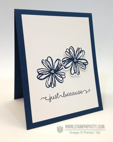 Stampin up stampinup stamp it mary fish pretty flower shop pansy punch dozen thoughts card idea