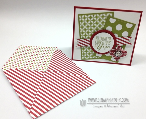 Stampin up stampinup stamp it pretty mary fish envelope punch board holiday catalogs christmas message