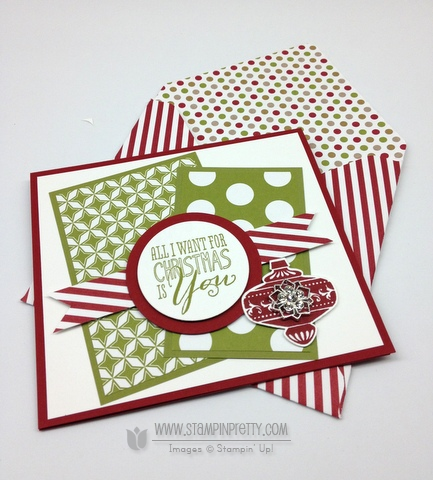 Stampin up stampinup stamp it pretty mary fish envelope punch boards holiday catalog christmas message