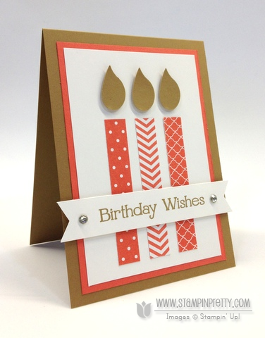 Stampin up stampinup birthday candles bird builder punch mary fish order stamp it card ideas