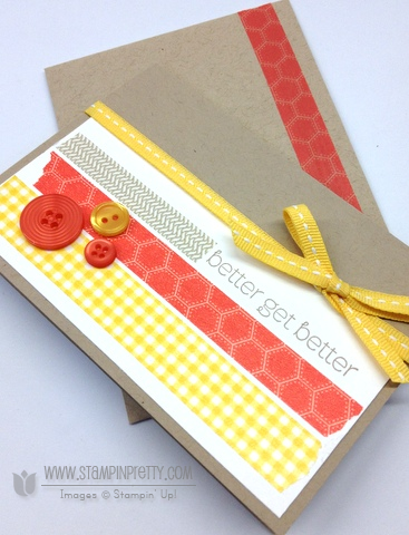 Stampin up stampin up washi tape get well card idea mary fish order pretty stamp it