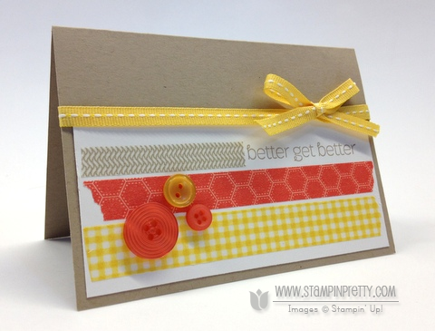 Stampin up stampin up washi tape get well card ideas mary fish orders pretty stamp it