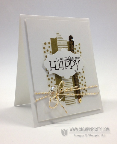 Stampin up stampinup happy watercolors washi tape envelope liner framelits card ideas mary fish orders