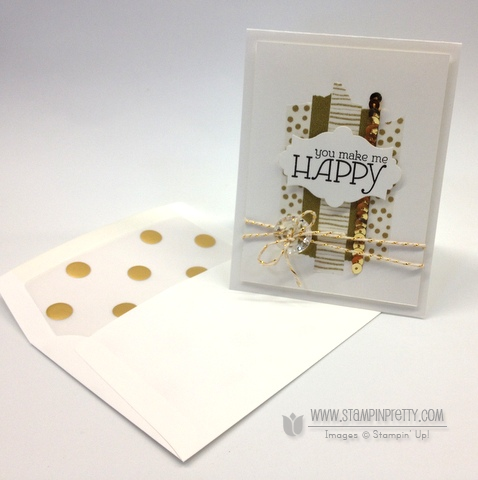 Stampin up stampinup happy watercolors washi tape envelope liner framelits card ideas mary fish order