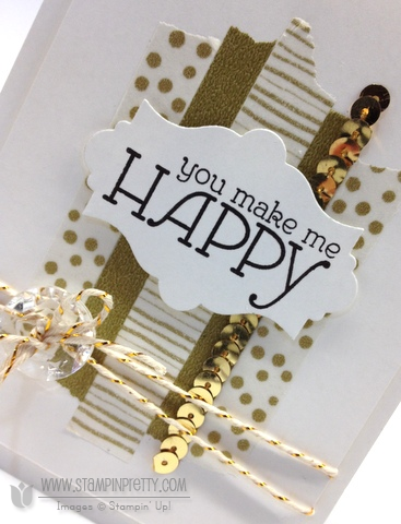 Stampin up stampinup happy watercolors washi tape envelope liner framelits card idea mary fish order