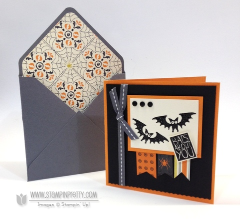 Stampin up stampinup halloween hello envelope punch board liner halloween card ideas order stamp it