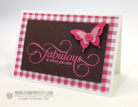 Stampin up stampin up million and & one order mary fish stamp it pretty envelope liners butterfly punch