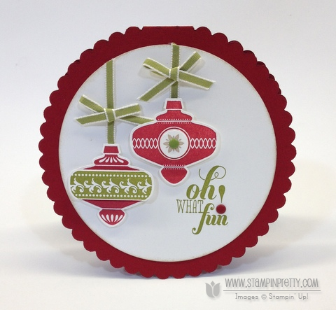Stampin up stampinup stamp it pretty order holiday card making idea christmas collectible message punch