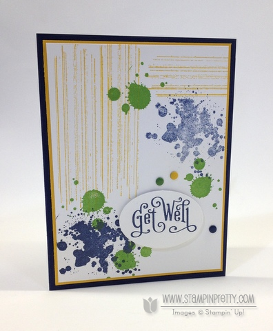 Stampin up stampinup stampin it pretty buy order gorgeous grunge get well card idea