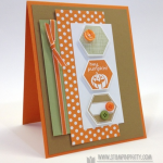 Hexagon Halloween Card with a Punch