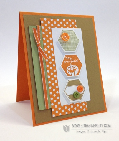 Stampin up stampinup stamp it buy order pretty six sided sampler perfectly you hexagon punch halloween card ideas