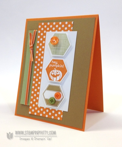 Stampin up stampinup stamp it buy order pretty six sided sampler perfectly you hexagon punch halloween card idea
