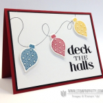 Deck the Halls Holiday Tree Lights Card
