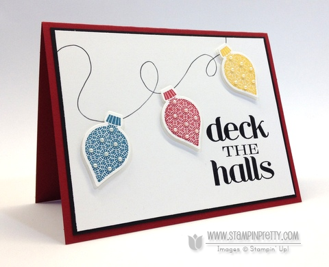 Stampin Up Ornament Keepsakes Holiday Ornaments Framelits Dies Holiday Cards & Ideas Mary Fish Stampin Pretty Stampinup Demonstrator Blog