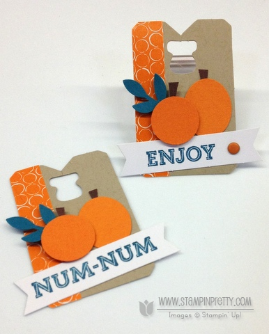 Stampin up stampinup pumpkin pie goodie gear simply created kit halloween treats cello bag punch art