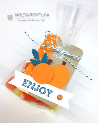 Stampin up stampinup pumpkin pie goodie gear simply created kit halloween treat cello bag punch art