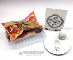 Stampin up stampinup pumpkin pie goodie gear simply created kit halloween treat cello bag punch blog candy