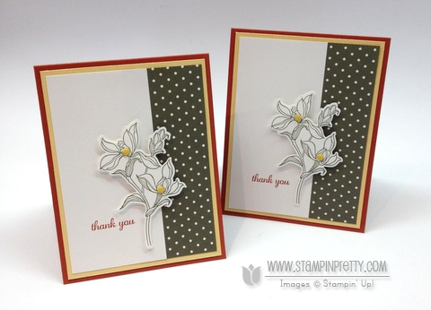 Stampin up stampinup backyard basics bundle framelits dies order buy mary fish stamp it pretty thank you card ideas