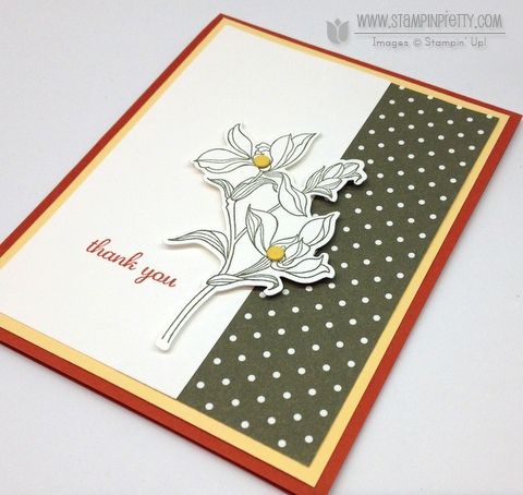 Stampin up stampinup backyard basics bundle framelits die order buy mary fish stamp it pretty thank you card idea