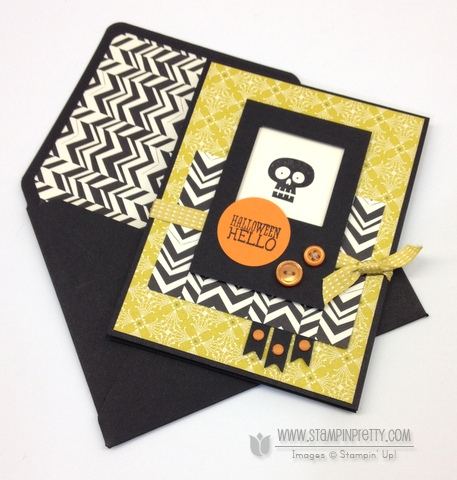 Stampin Up Halloween Hello Squares Collection Framelits Dies Holiday Cards & Ideas Mary Fish Stampin Pretty Stampinup Demonstrator Blog