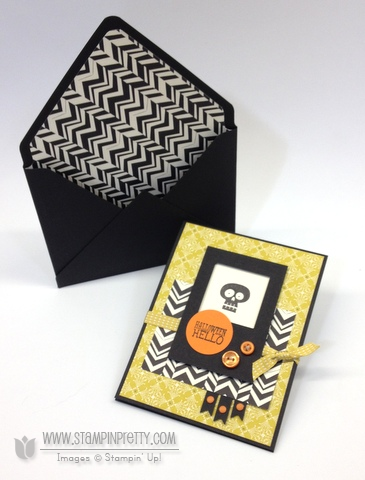 Stampin up stampinup stamp it pretty halloween hello card idea mojo monday envelope punch board