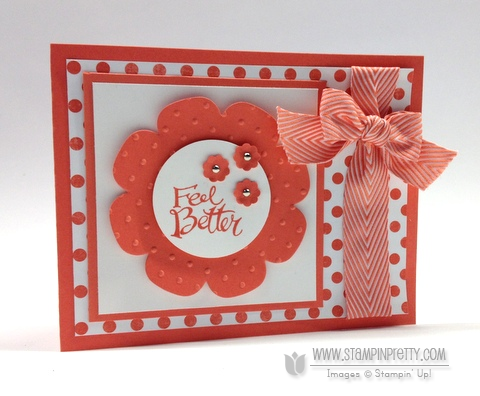 Stampin up stampinup pretty order buy sassy salutations floral frames framelits dies big shot get well card