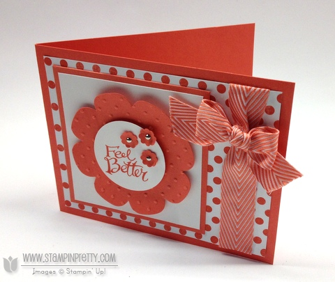 Stampin up stampinup pretty order buy sassy salutations floral frames framelits dies big shot get well cards