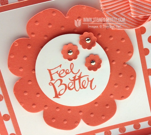 Stampin up stampinup pretty order buy sassy salutations floral frames framelits die big shot get well card