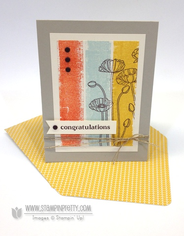 Stampin up stampinup pleasant poppies mary fish buy order pretty stamp it painters tape congratulations card idea