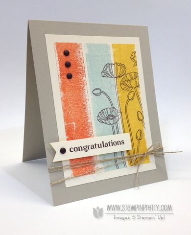 Stampin up stampinup pleasant poppies mary fish buy order pretty stamp it painters tape  card idea envelope punch