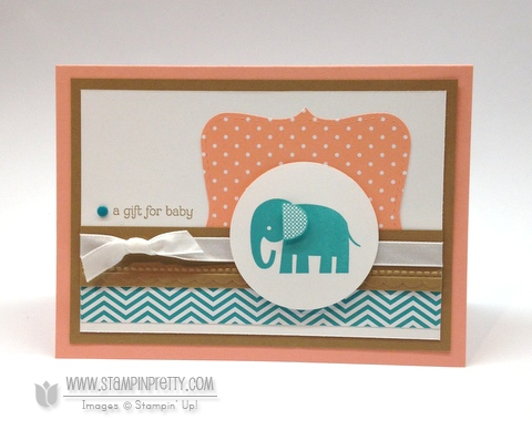 Stampin up stampinup mary fish stamp it pretty zoo babies baby card idea top note die punch big shot